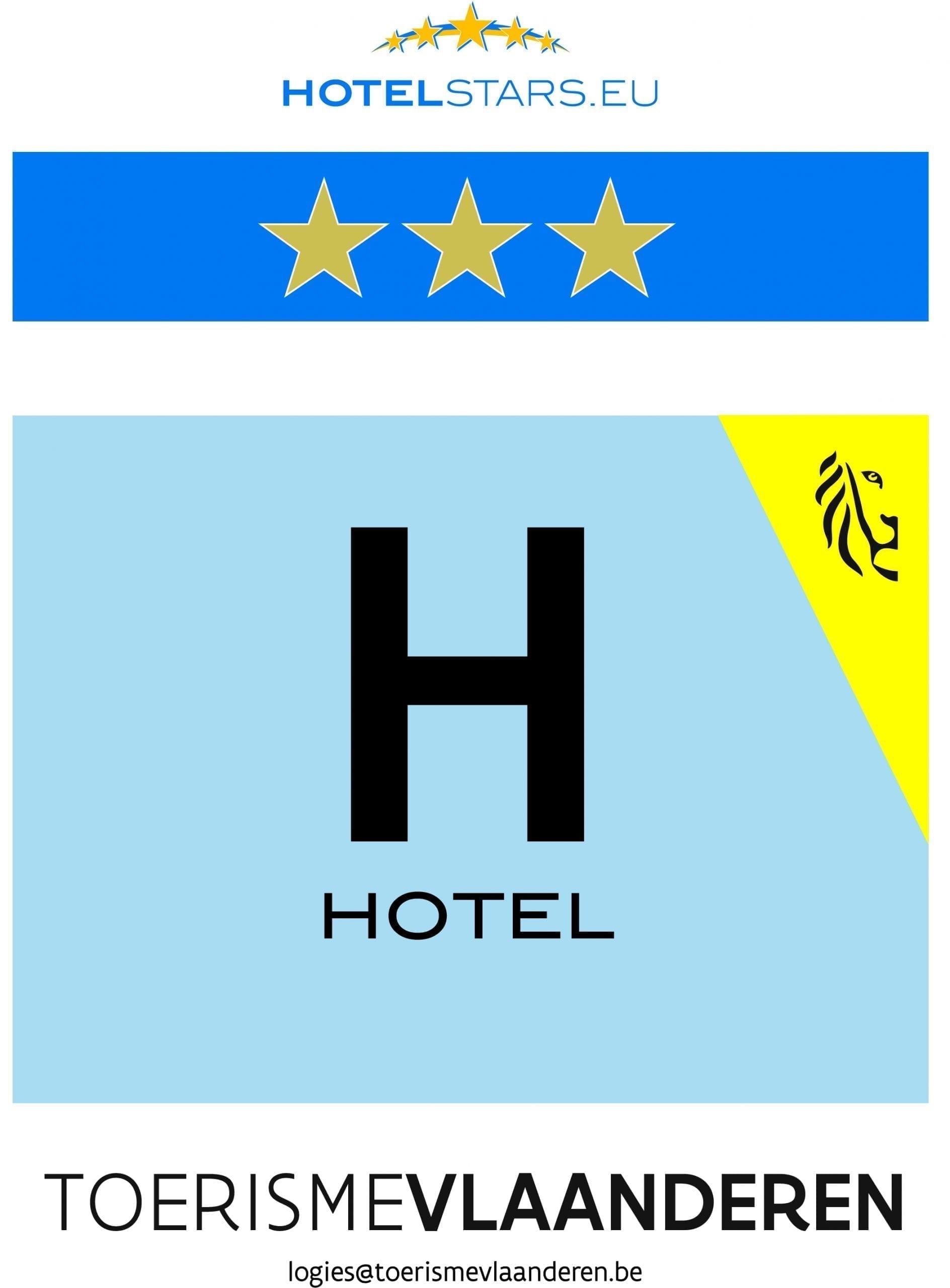 Hotel erkenningsschild_3 sterren
